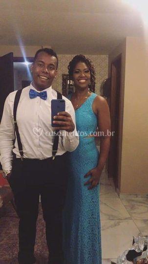 Dress Renda Azul Tiffany
