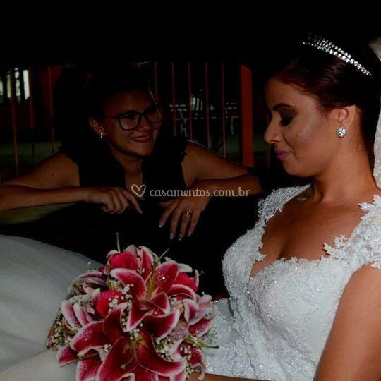 Com a noiva Elaine