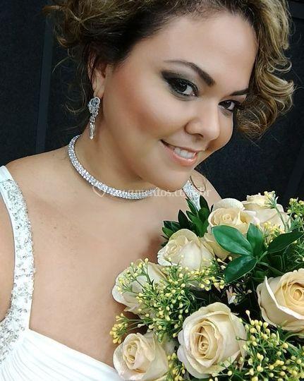Vestido noiva com alças