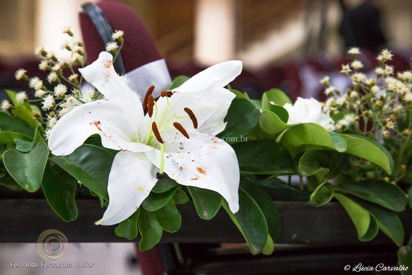 Corrimão de flores