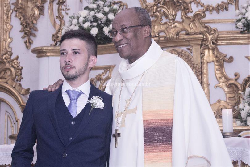 Noivo e padre