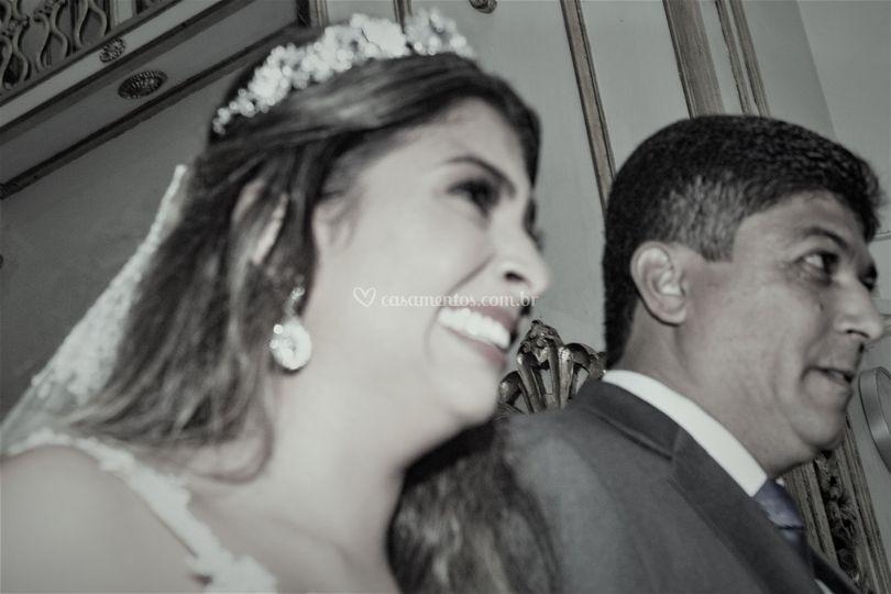 Noiva com pai