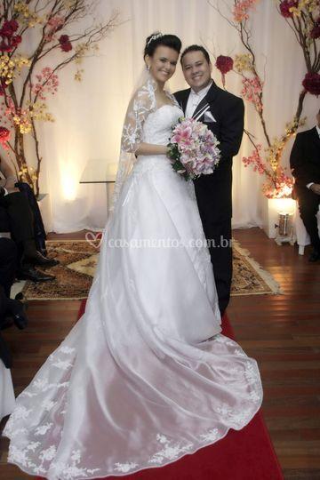 Foto do casal no altar