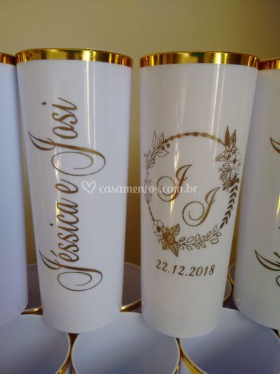 Long drink  borda dourada