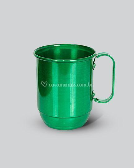 Caneca aluminio verde