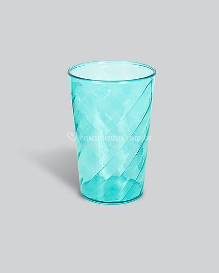 Copo twister azul tifany translúcido