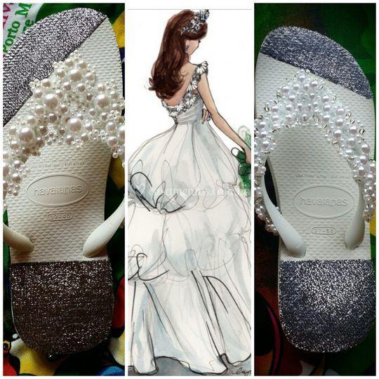 Sandálias para noivas