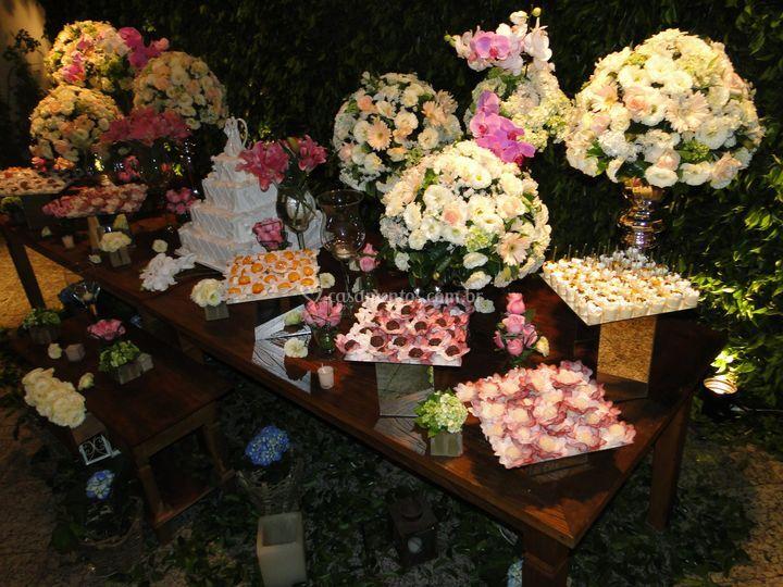 Arranjos florais para casamentos