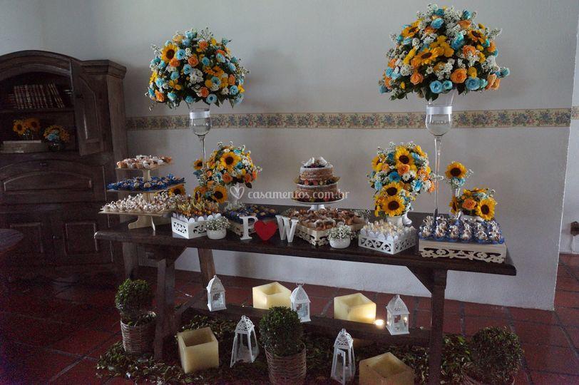 Mesa de bolo Vivenda Colonial