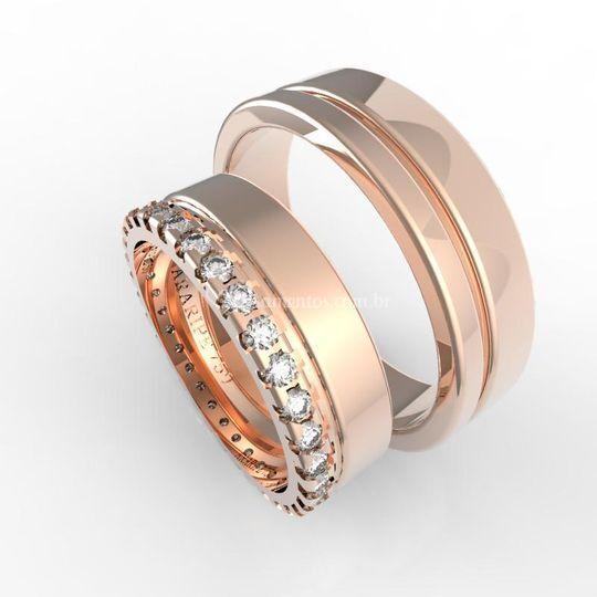 Al0044 18k rosé diamantes