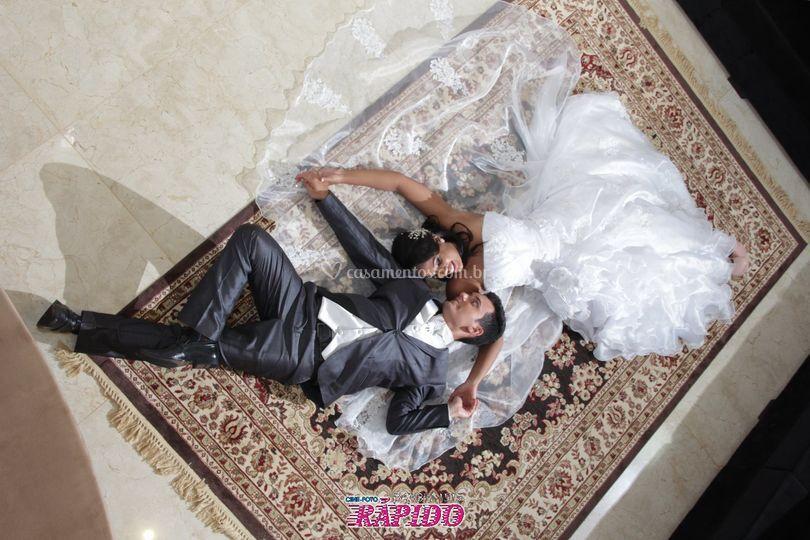 Casal pós casamento