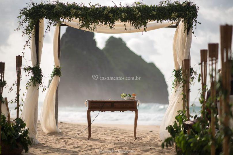 Noivas em Noronha