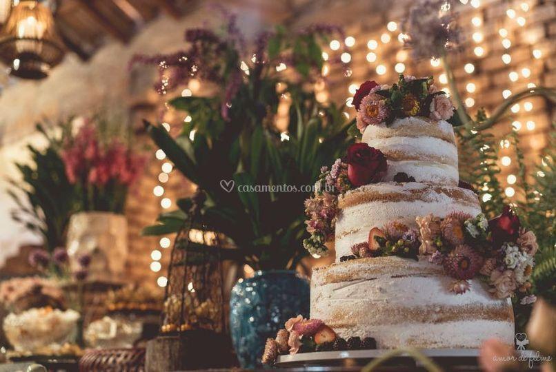 Naked cake 3 andares