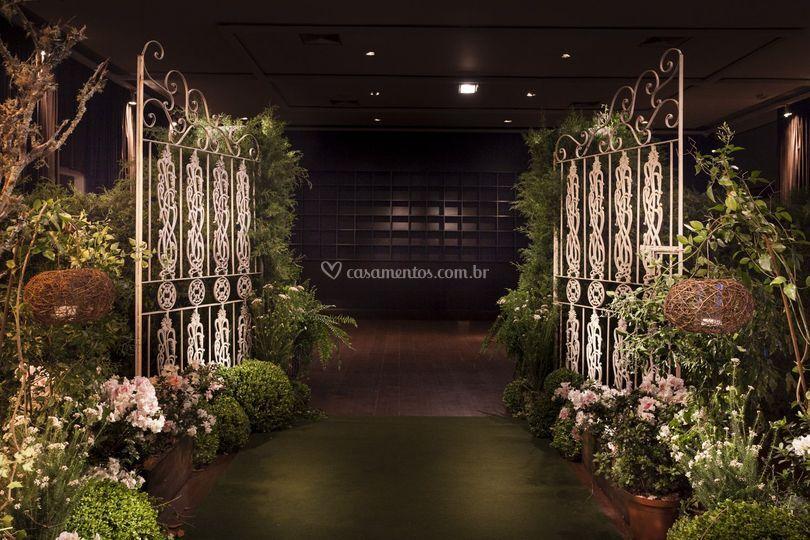 Detalhes da entrada da noiva