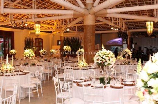 Flores como centro de mesa