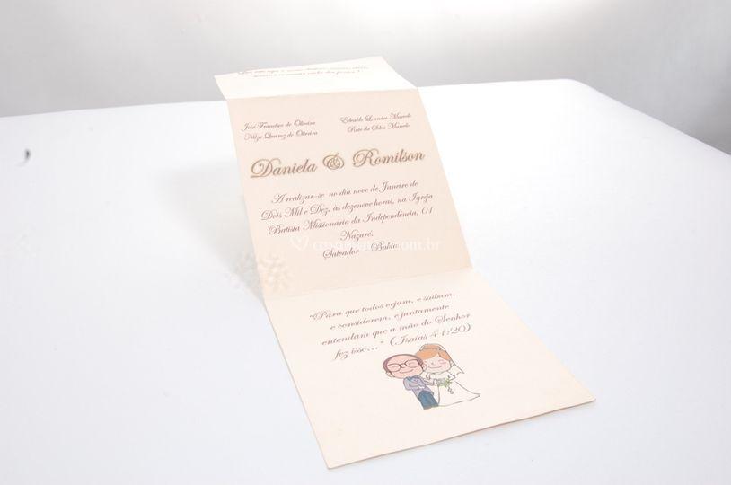 Convite Casamento Tradicional Pequeno
