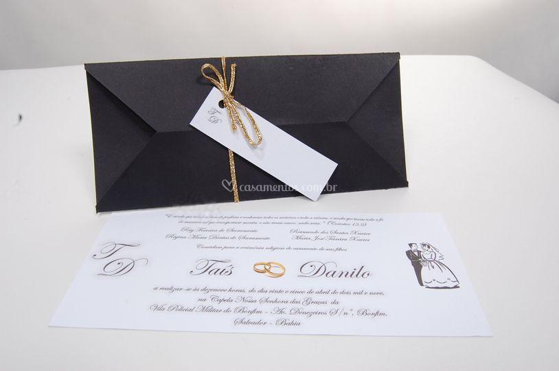 Convite Casamento Corte Lateral