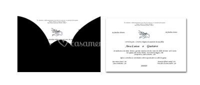 Convite Casamento Black