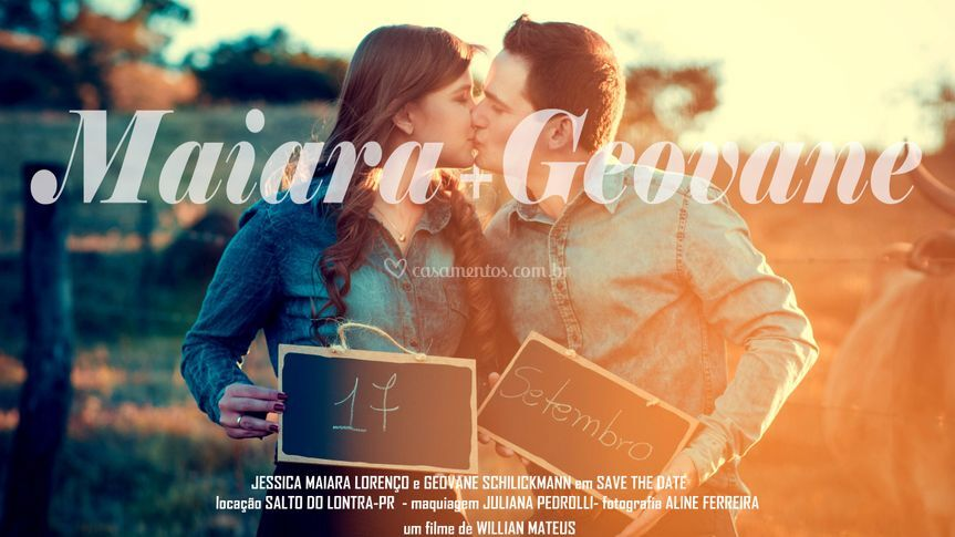 Save the date - maiara&geovane
