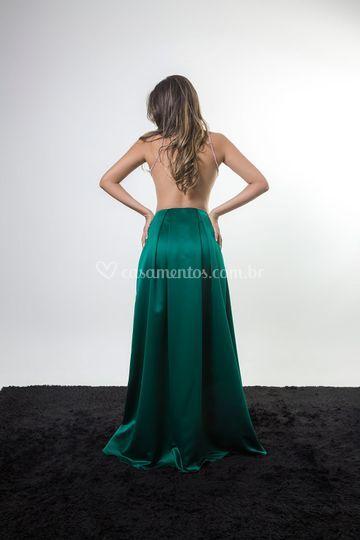 Verde ,costas transparentes