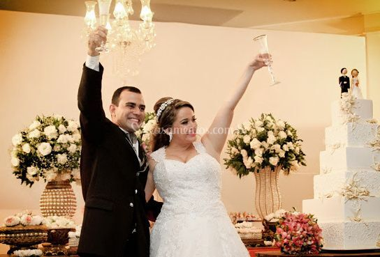 Brinde a noiva e o noivo