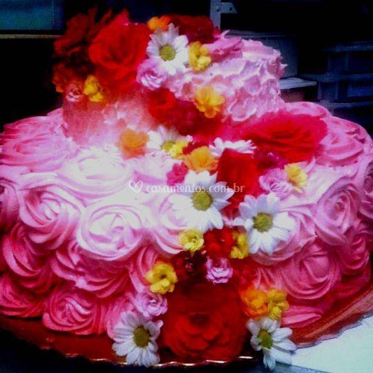 Bolo cake flower