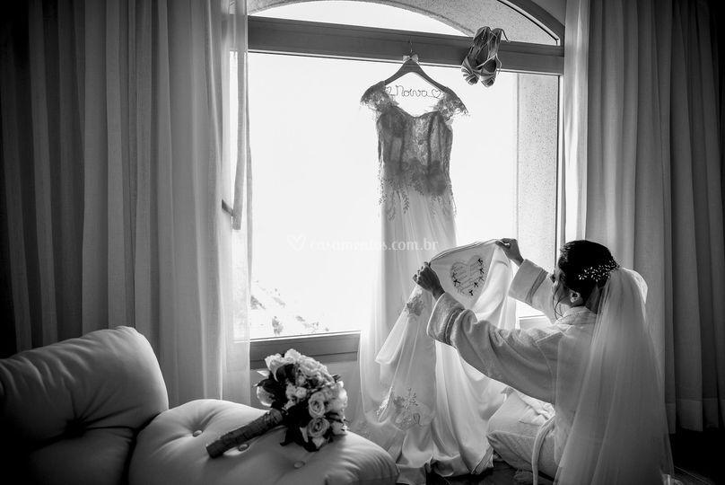 Noiva e seu vestido