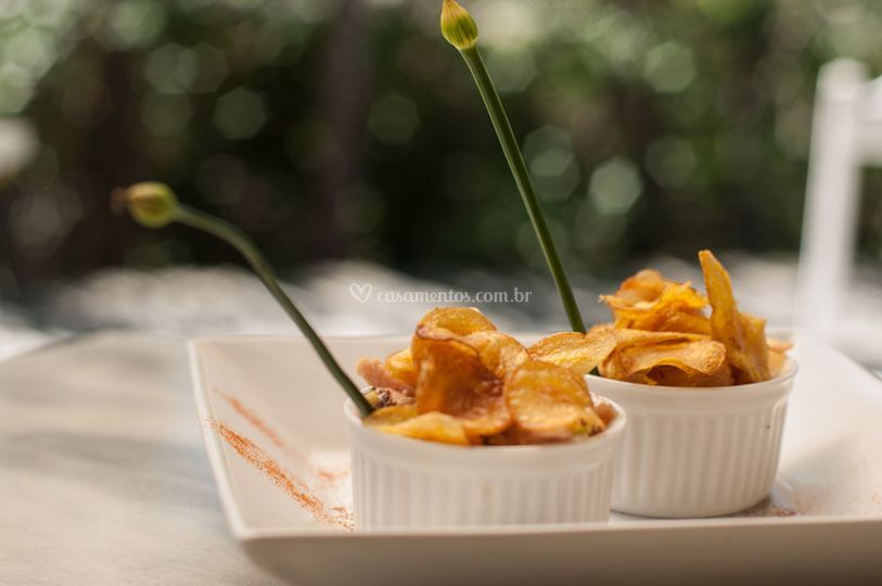 Fricassé e Crisps de Baroa