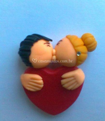 Imã casal beijinho