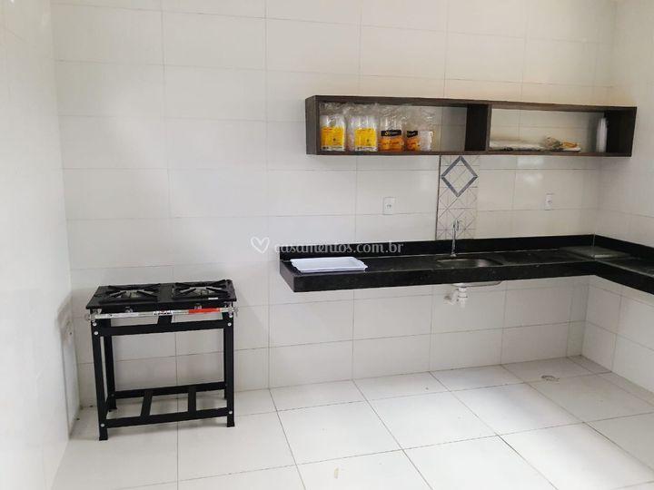 Cozinha equipada e climatizada