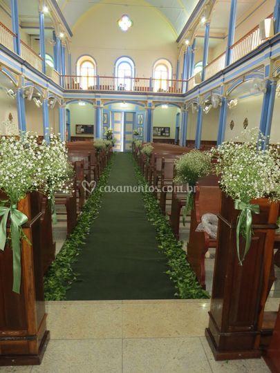Decoração igreja rústica