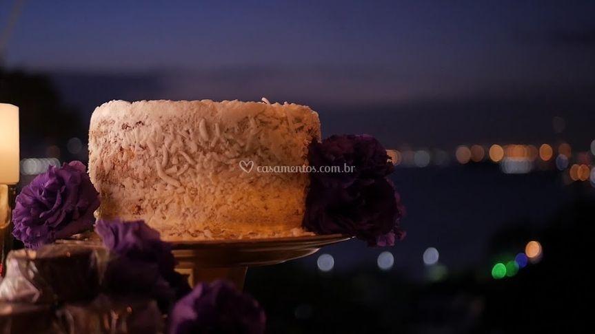 Bancada de bolo ao ar livre