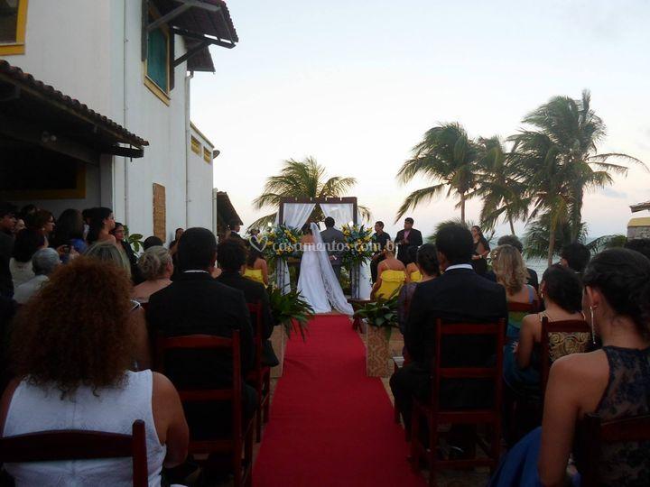 Altar para o casamento