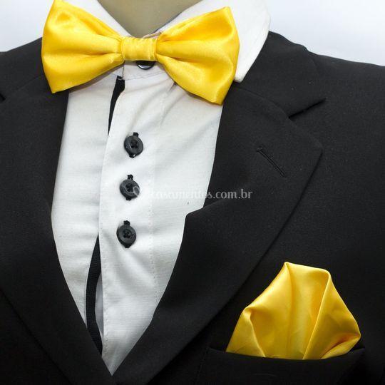 Gravata borboleta amarela
