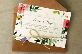 Floral aquarela para convite