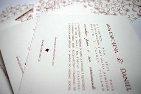 Convite em letterpress