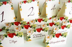 Papelaria personalizada floral