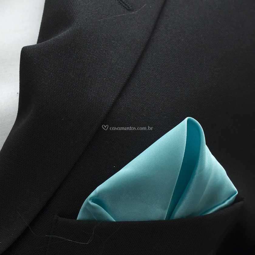 Lenço de bolso azul bebe de Amaral Import  e932fd3a292