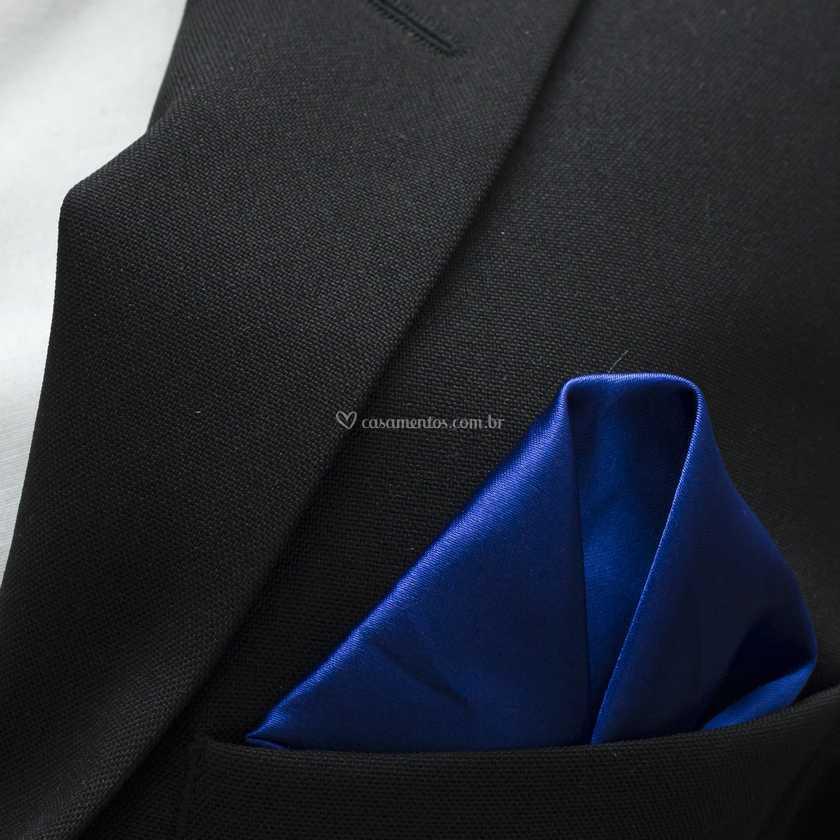Lenço de bolso azul royal de Amaral Import  3dc4a9fc87a
