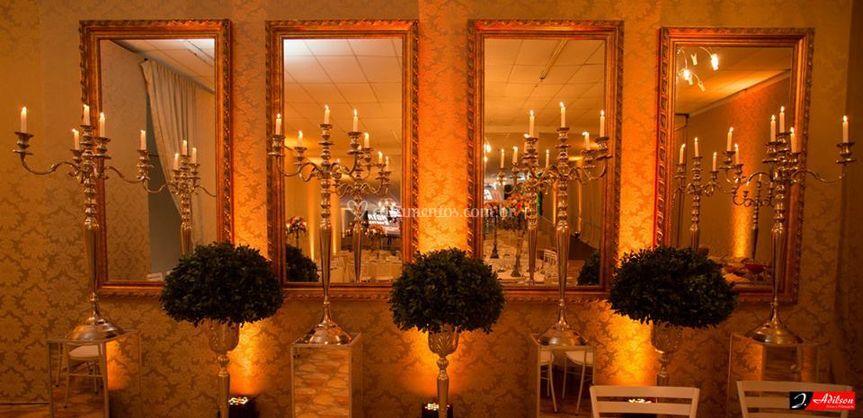 Iluminação cenica ambér