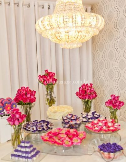Mesa de doces com estilo