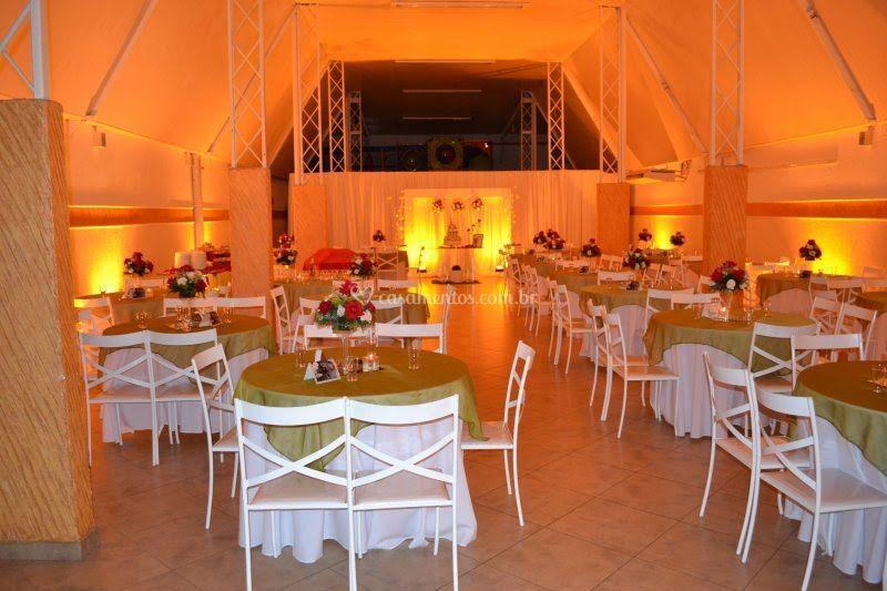 Salão decorado