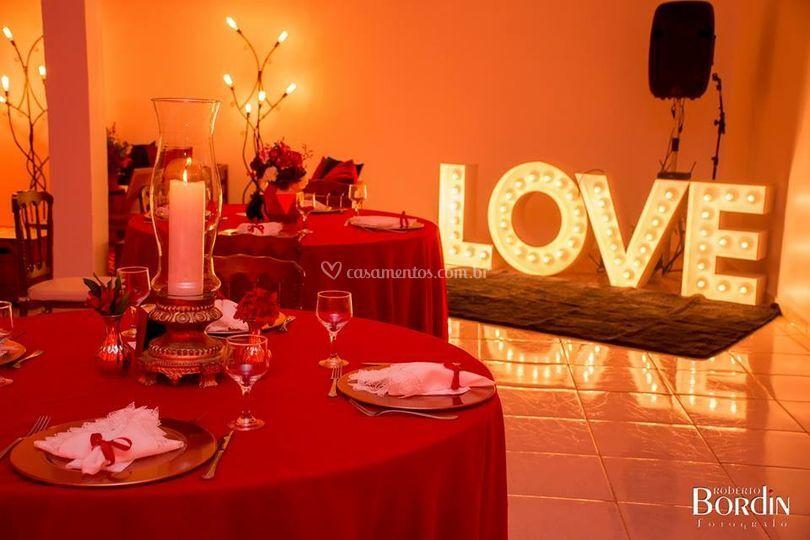 Salão decorado casamento