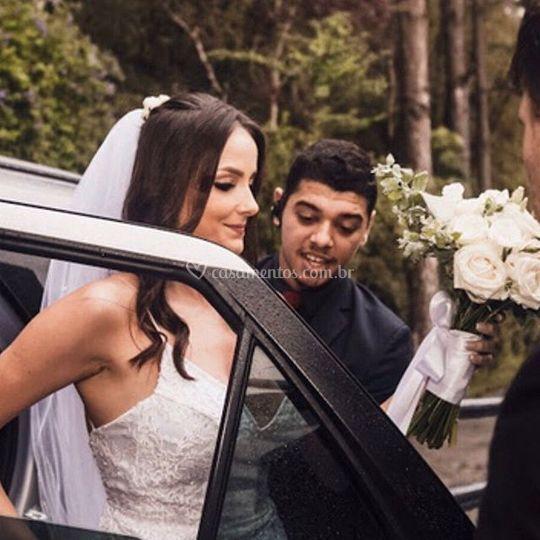 Chegada da noiva Lucielli Laus