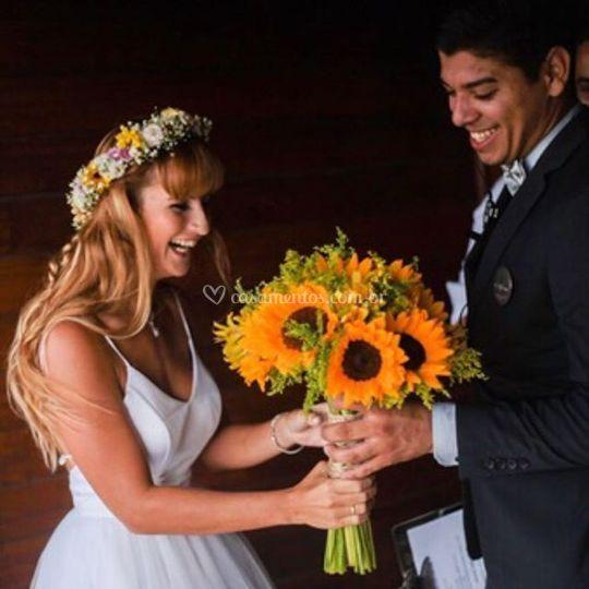 Entrega do bouquet Carla