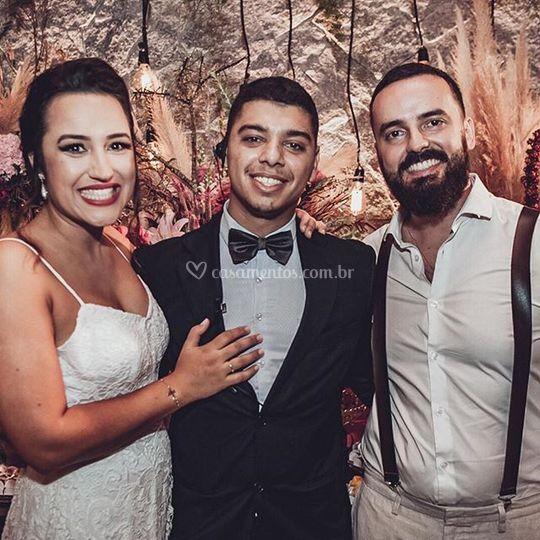 Noivos Camila e Denis