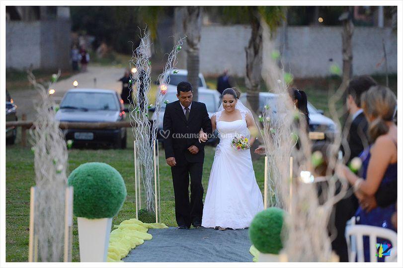 Casamento final de tarde