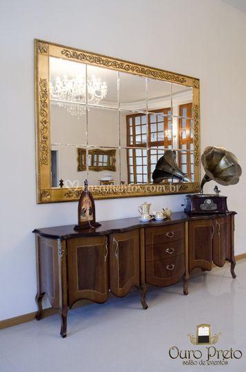 Espelho Clássico com Cristal