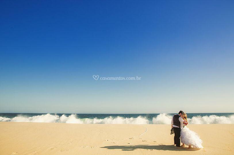 Juntos na praia