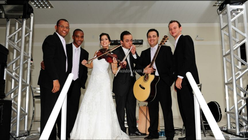"""Os noivos """"músicos"""""""